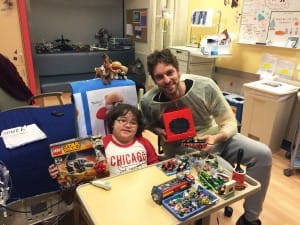 Dylan, who often makes LEGO gifts for those he becomes close with, made Pau a new LEGO creation