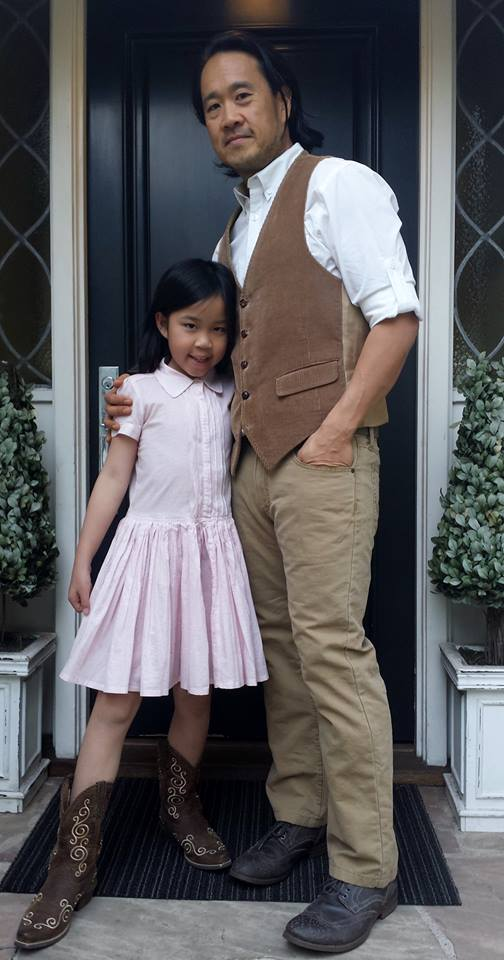 Kyle and his daughter before their first Western-themed, father-daughter dance in 2014.