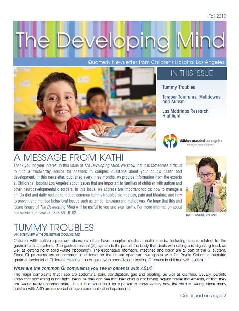 The Developing Mind Newsletter - Fall 2010