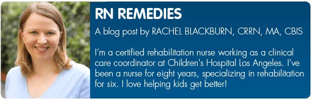 Bio banner for RN blogger, Rachel Blackburn