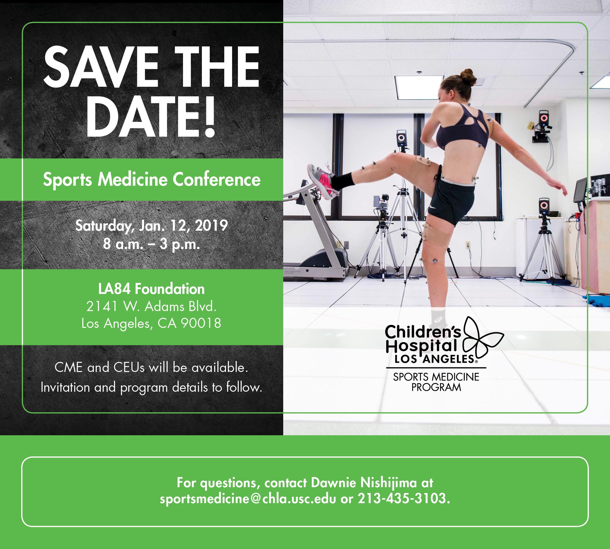 2019 sports medicine conference chla