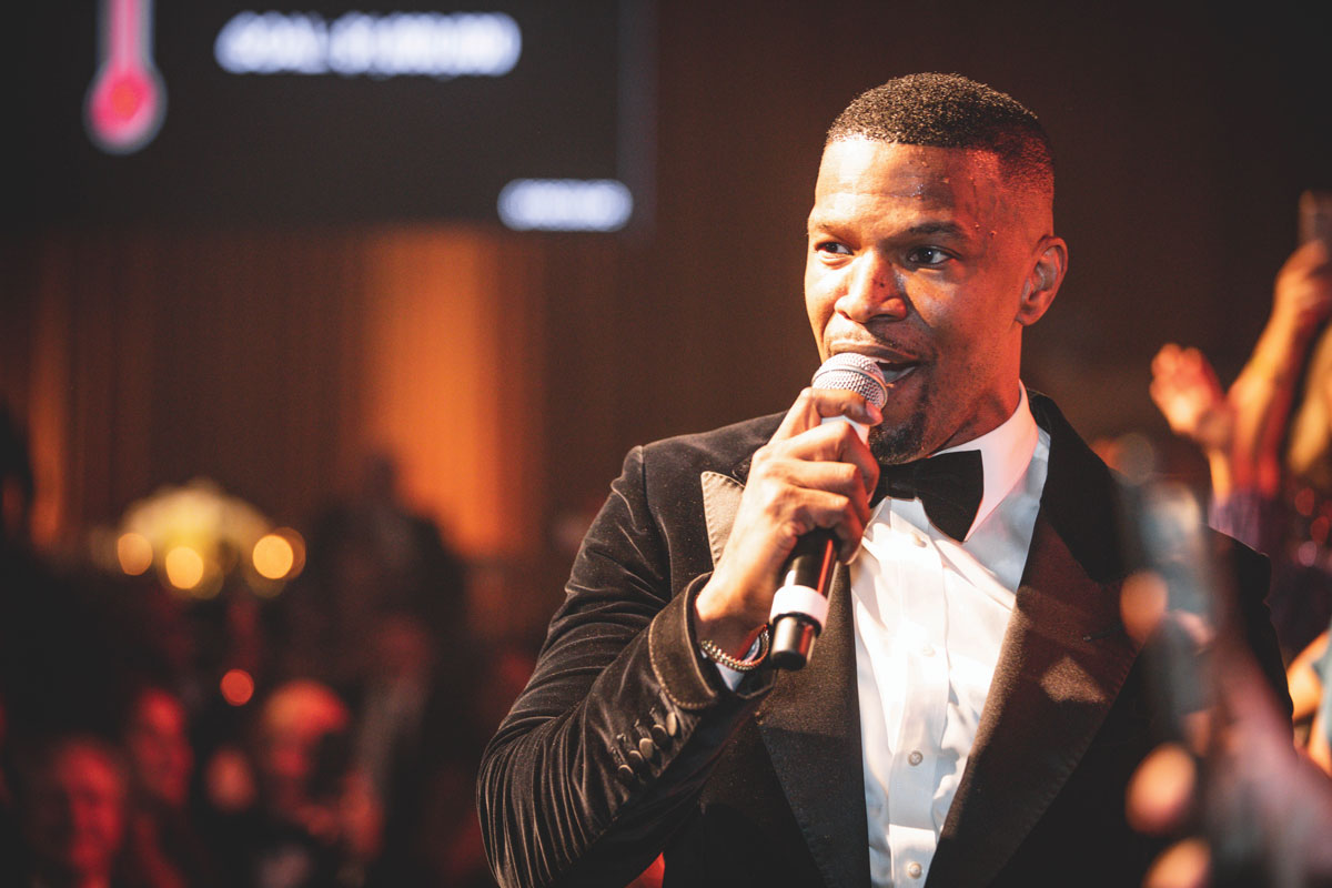 Oscar-winning actor Jamie Foxx served as emcee at the gala.