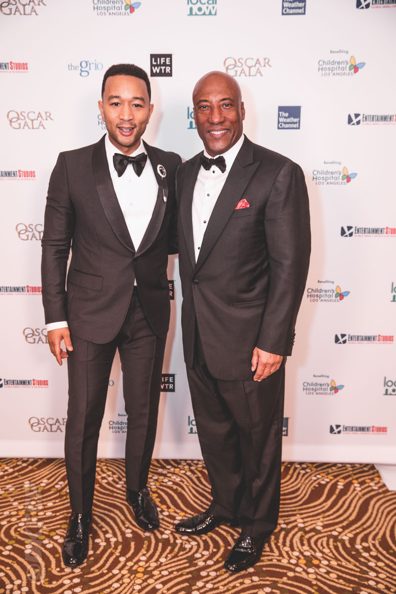 Singer John Legend, pictured with Byron Allen, treated guests to a special performance after the live auction.