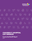 Cover image of 2019 CHLA Community Benefit Report