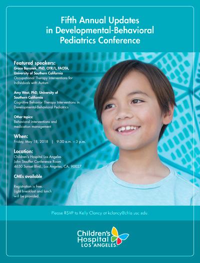Fifth Annual Updates in Developmental-Behavioral Pediatrics