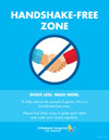 Handshake-Free Zone Flyer | Children's Hospital Los Angeles