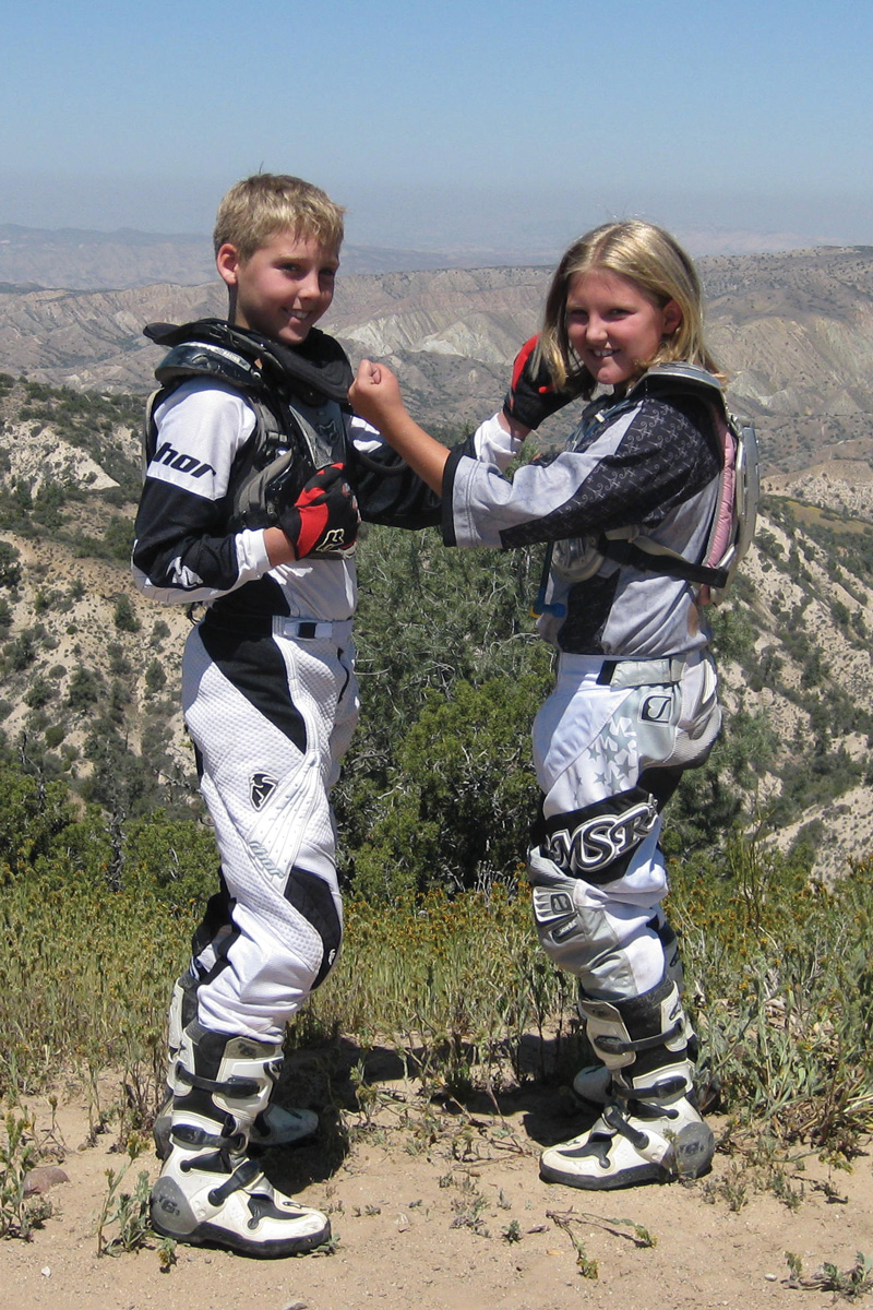 Before her illness and epilepsy, Courtney was a healthy kid who loved to go dirtbike riding with her brother, Brendon.