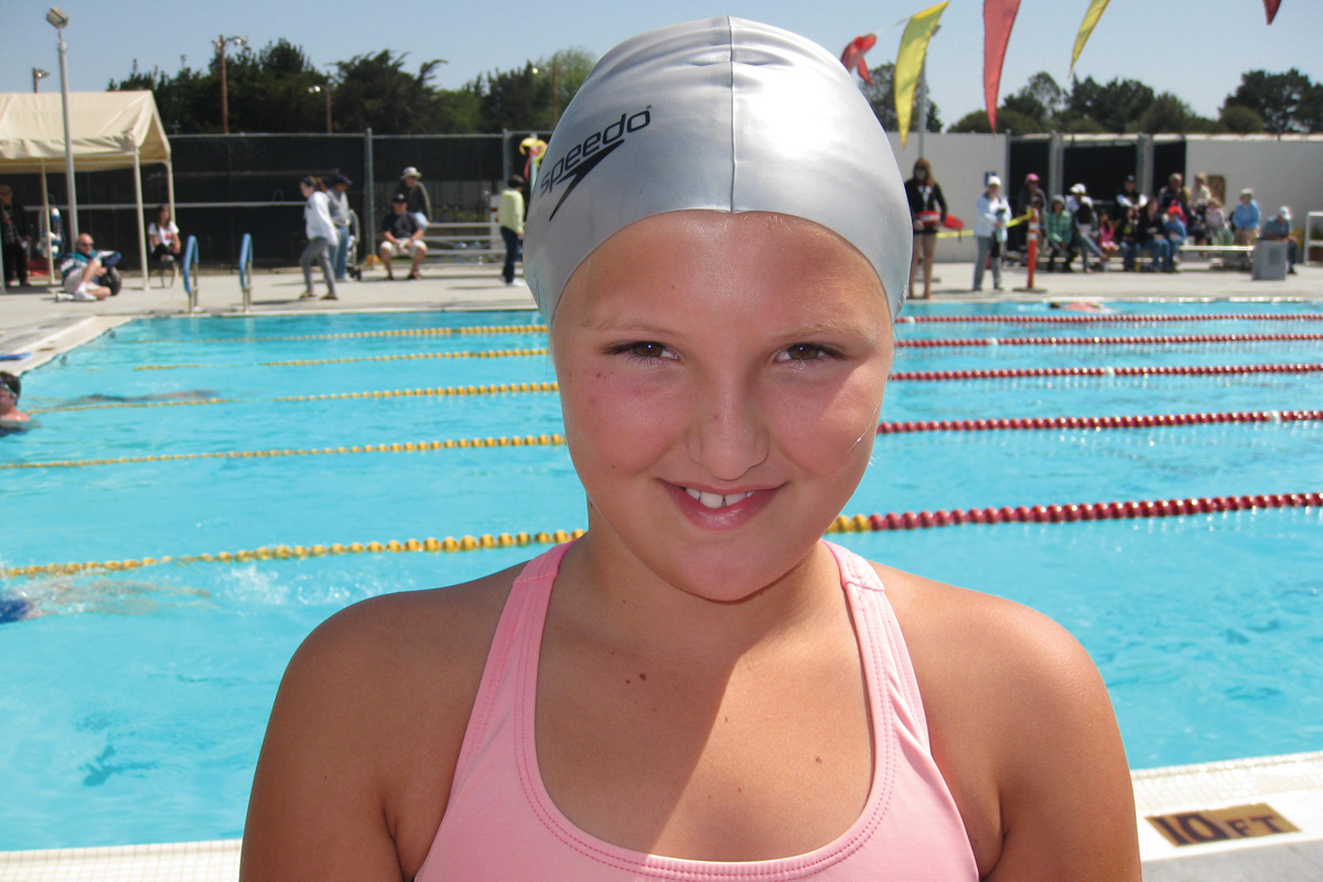 Before her illness and epilepsy, Courtney was a healthy kid who loved to swim.