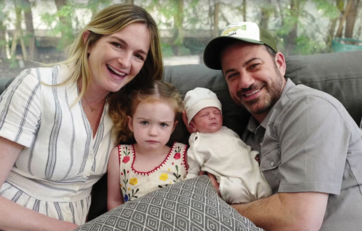 The Kimmel family, after baby Billy was able to come home following his first successful heart surgery at CHLA