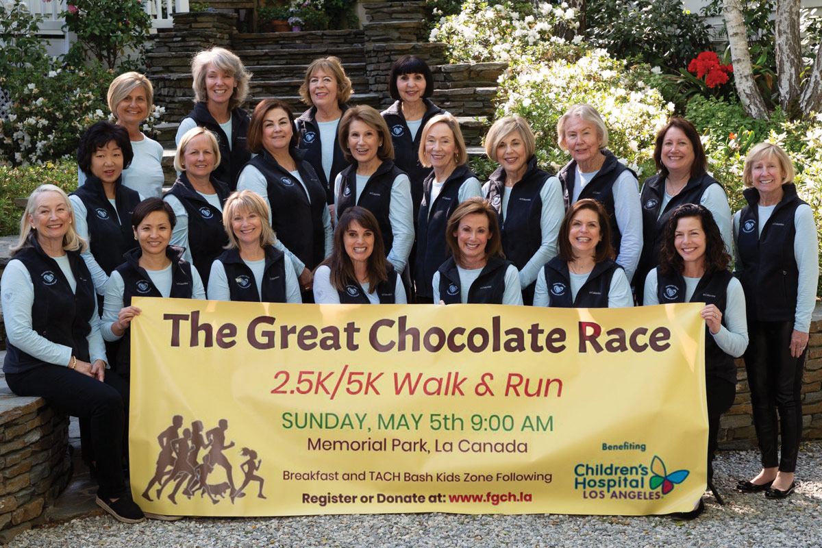 Members of the Flintridge Guild at their annual event, The Great Chocolate Race, on May 5, 2019