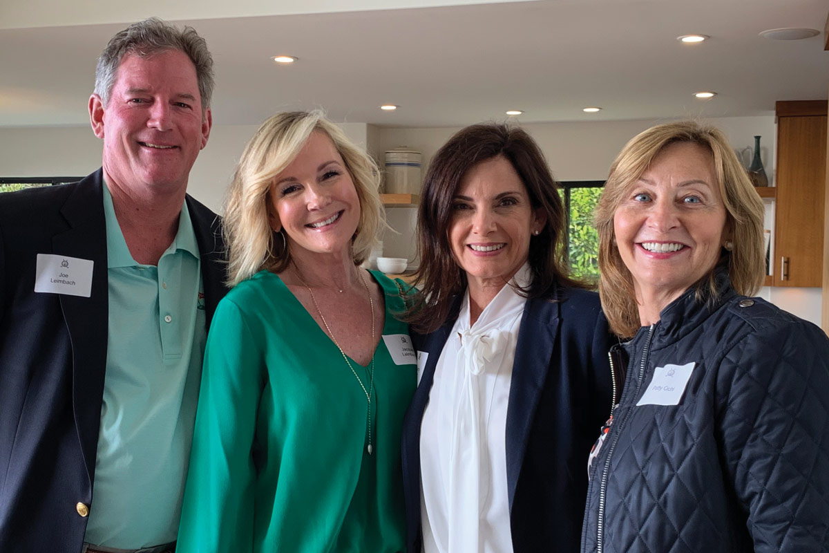 Left to right: Joe Leimbach; 2019 Horse Show Chair Jacquie Leimbach; Peninsula Committee President Lisa Gentry; and Patty Ochi, past President of the Peninsula Committee