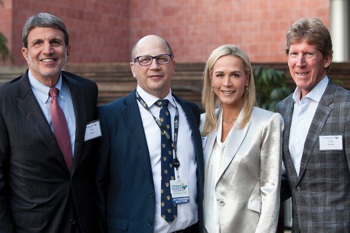 Left to right: CHLA President and CEO Paul S. Viviano, Dr. Kantor, CHLA Foundation Trustee Nancy Meidel and Greg Meidel