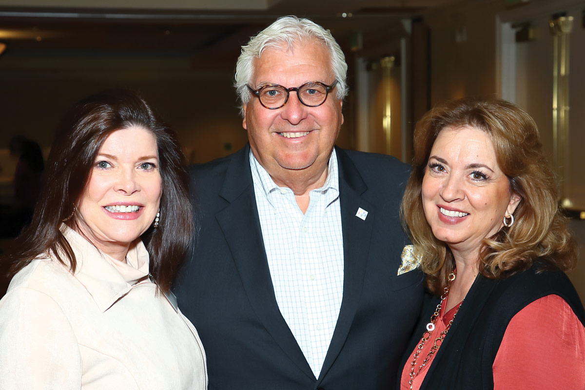 Left to right: Donna Jiaras; John Thoresen, CEO of the Barbara Sinatra Children's Center; and Catharine Reed from the H.N. and Frances C. Berger Foundation