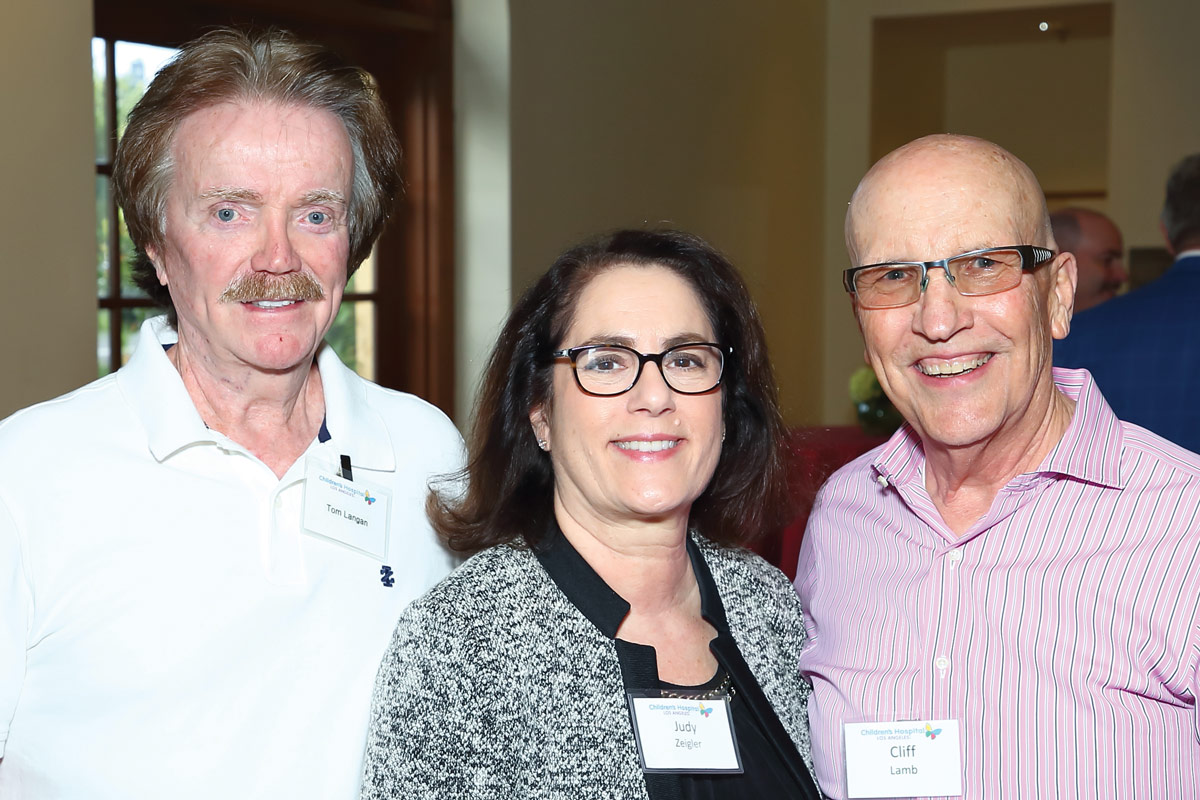 Left to right: Tom Langan, Judy Zeigler and Cliff Lamb