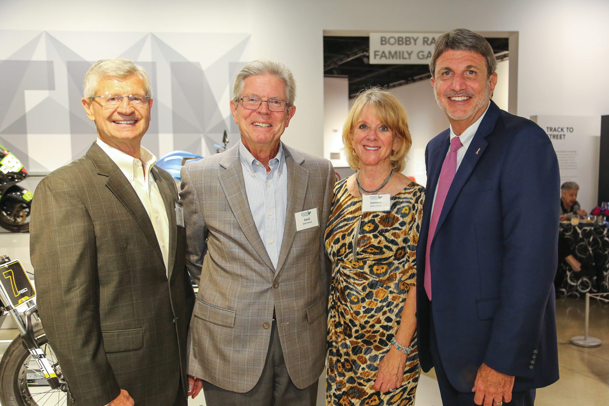 Left to right: Gary Toebben, a member of the CHLA Foundation Board of Trustees; David and Kathleen Aikenhead; and Paul S. Viviano, CHLA President and CEO