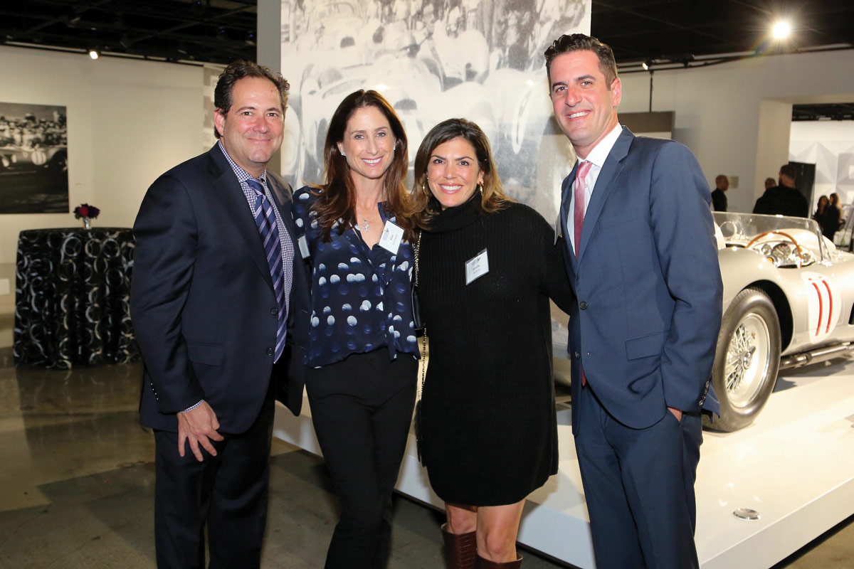 Left to right: Michael and Elisa Schenkman, CHLA Foundation Trustees, with Jennifer Heilbron and CHLA Foundation Trustee Peter Heilbron