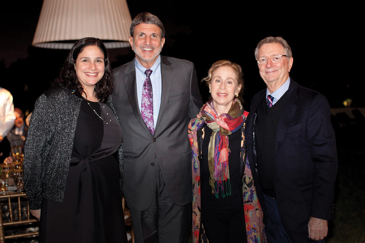 From left to right: Lara M. Khouri, CHLA Senior Vice President and Chief Strategy Officer; Paul S. Viviano, CHLA President and CEO; Paula Rudnick; and CHLA Foundation Trustee Allan Rudnick