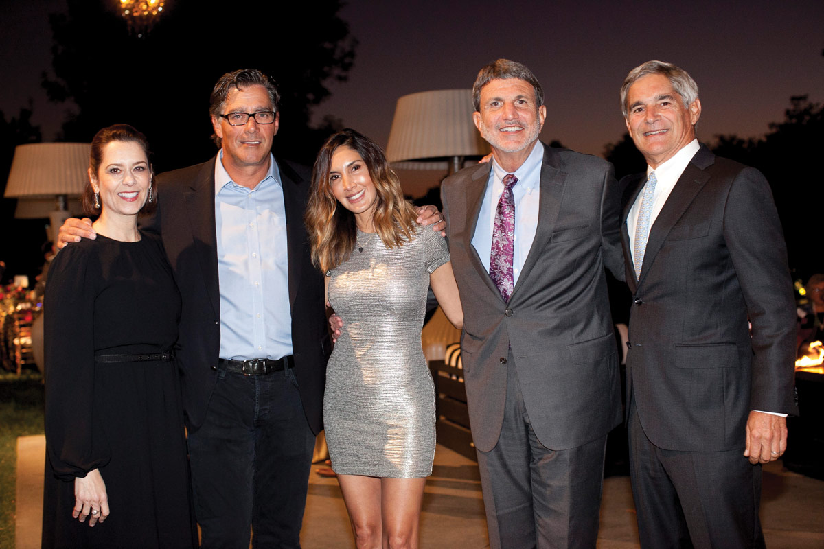 Left to right: Alexandra Carter, Senior Vice President and Chief Development Officer at CHLA; Jeffrey Worthe, Chair of the CHLA Board of Directors and a member of the CHLA Foundation Board of Trustees; event host Yvonne Niami; Paul S. Viviano, CHLA President and CEO; and Kevin H. Brogan, Chair of the CHLA Foundation Board of Trustees