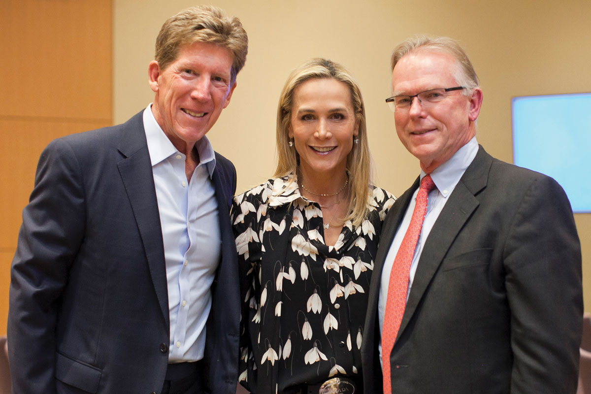 Left to right: Greg Meidel, CHLA Foundation Trustee Nancy Caroline Meidel and Dr. Starnes