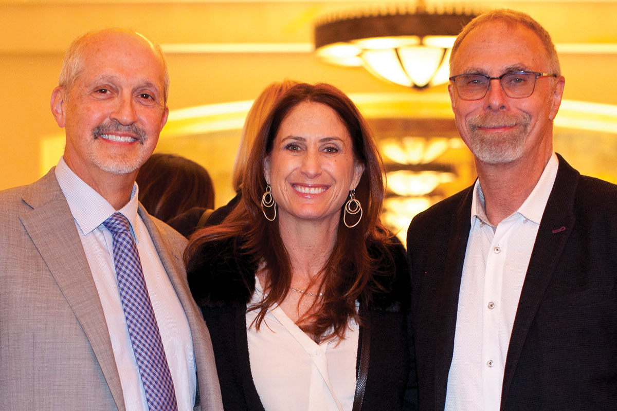 Left to right: Robert Shaddy, MD, CHLA Foundation Trustee Elisa Schenkman and Mitchell E. Geffner, MD, Chief Emeritus of the Center for Endocrinology, Diabetes and Metabolism