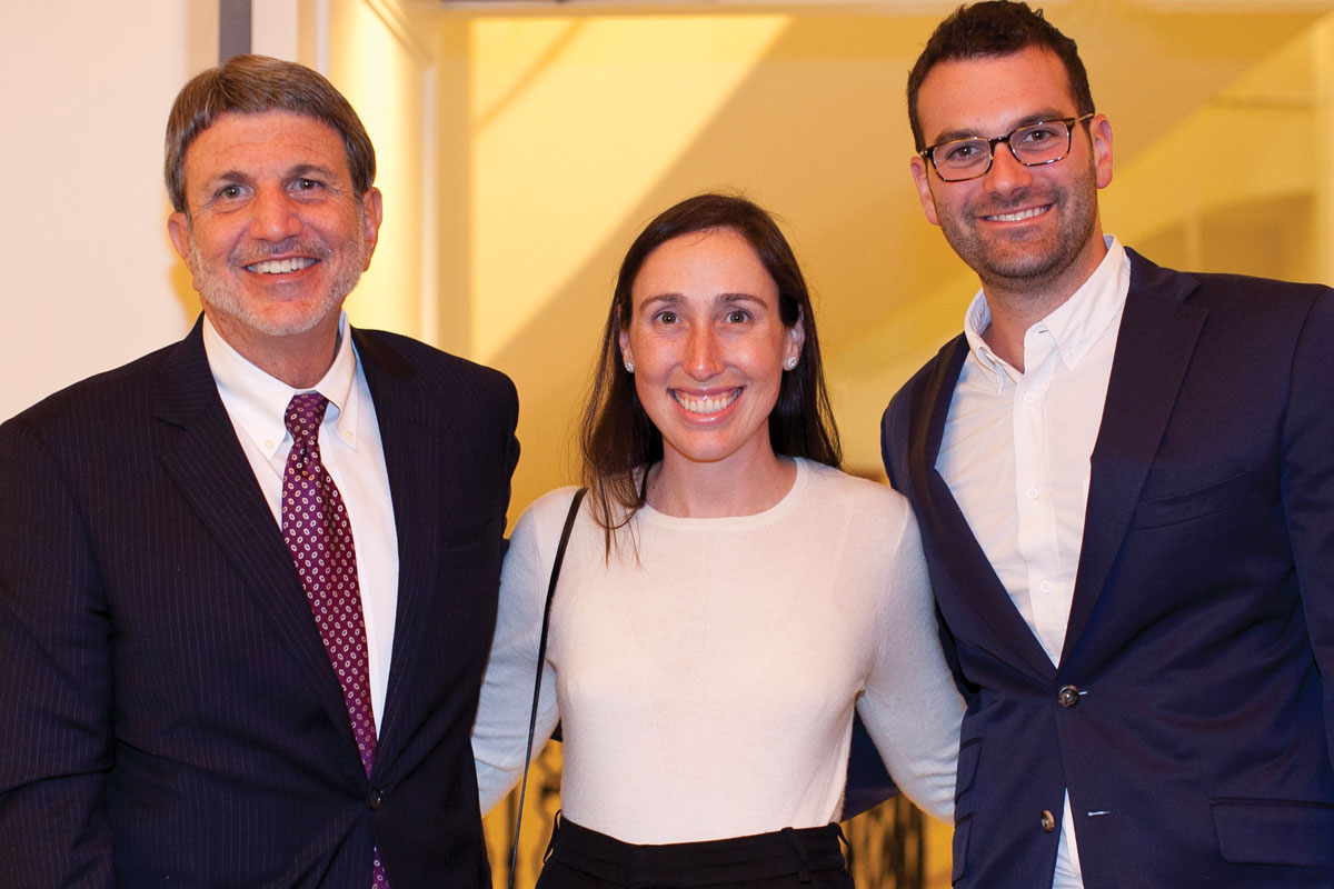 Left to right: Paul S. Viviano, CHLA Foundation Trustee Stephanie Beck Bronfman, MD, and Jeremy Bronfman