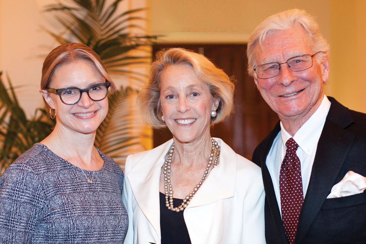 Left to right: Dr. Raymond, CHLA Foundation Trustee Brooke Anderson and Randy Ferguson