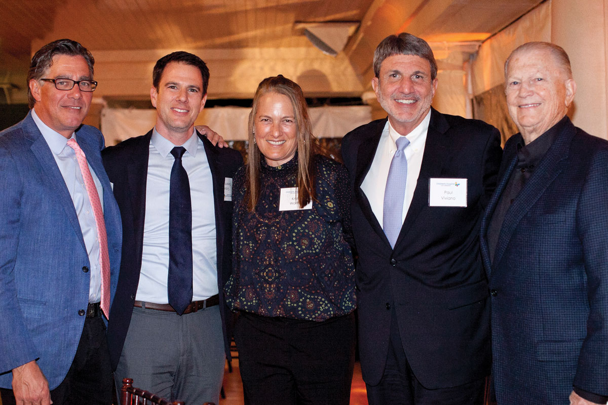 Left to right: Jeffrey Worthe, Chair of the CHLA Board of Directors; Gabe Greenbaum, a member of the CHLA Foundation Board of Trustees; Kristin Worthe; Paul S. Viviano, CHLA President and CEO; and Burt Sugarman