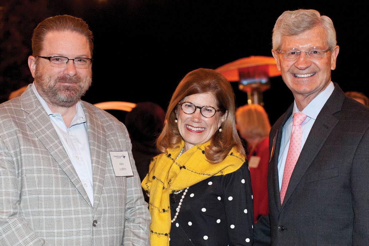 Left to right: Alexander Judkins, MD, FCAP, FRCP (Edin), Pathologist-in-Chief and Executive Director of the Center for Personalized Medicine at CHLA; Janice Toebben; and Gary Toebben, a member of the CHLA Foundation Board of Trustees