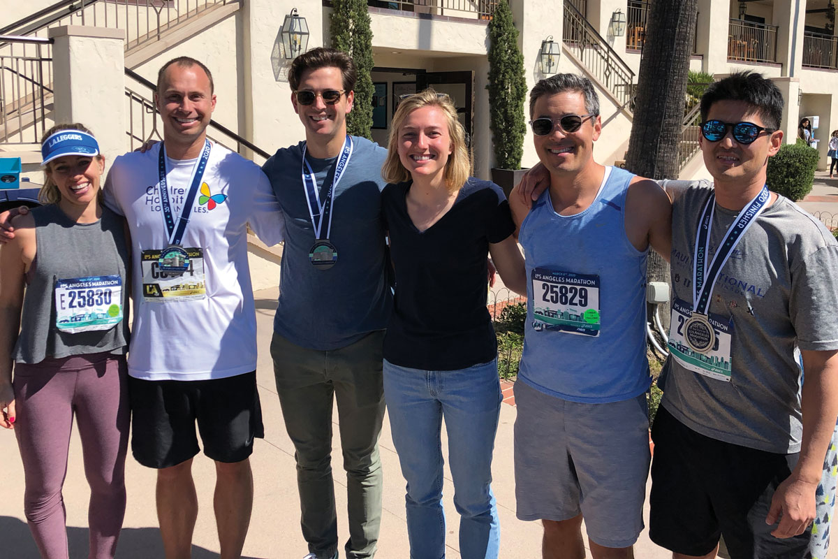 In all, Team Bash raised $195,000 for the hospital. Some of the team members included (left to right) Robyn Taniguchi, JP LeVeque, Dan Cichocki, Hannah Grubbs, Conor Taniguchi and Taejo Kim.