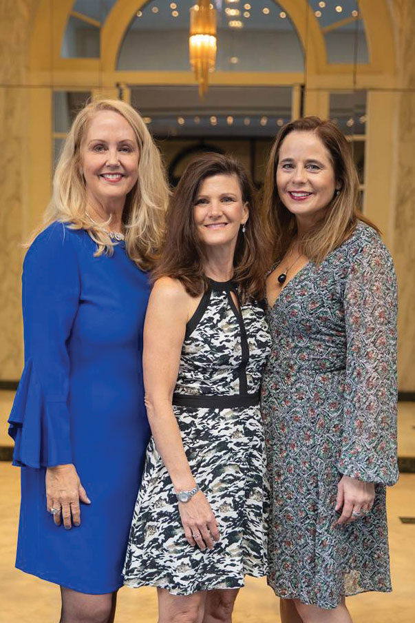 Left to right: Westside Guild members Linda Grossman and Sheri Sani, who co-chaired the Luncheon for Hope, and 2018 Westside Guild President Lee Ann Sanderson