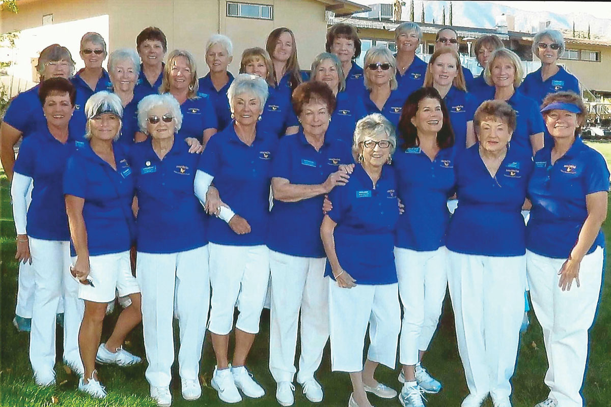 Members of the Antelope Valley Guild at their annual golf tournament