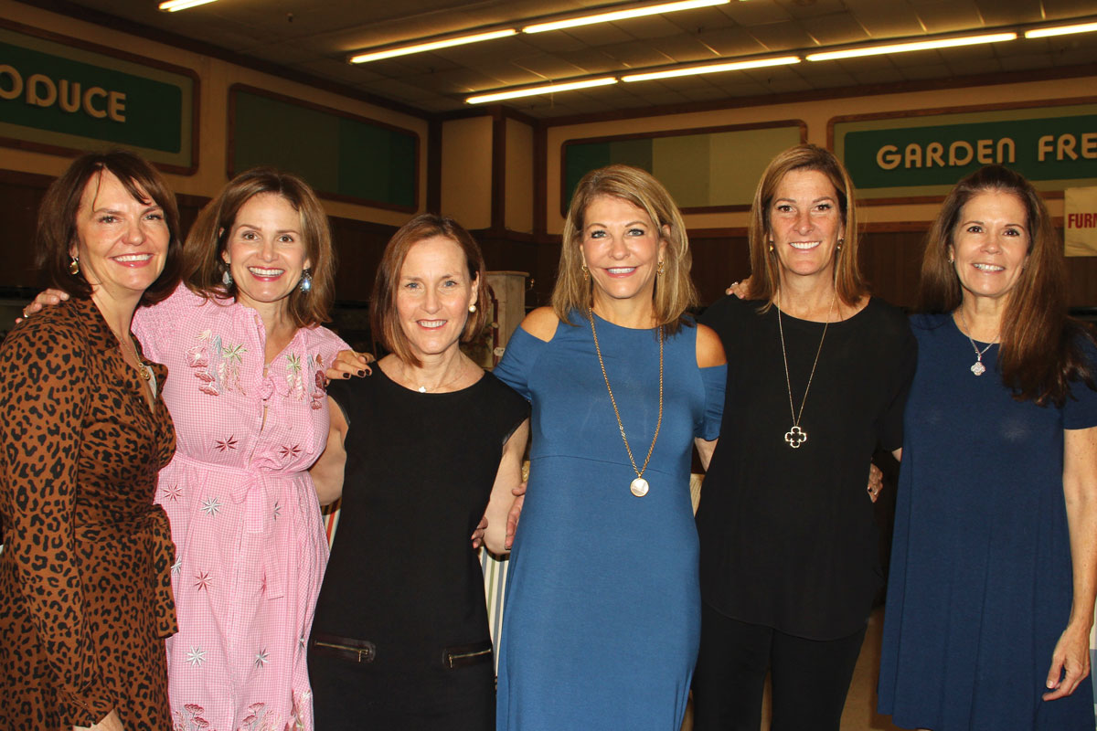Every year the Pasadena Guild puts on the Treasures & Trivia rummage sale to fundraise for CHLA. Left to right: Pasadena Guild members Beth Price, Anne Alford, Melissa Patterson, Cherie Harris, Alison Condon and Cathy Woolway at the Treasures & Trivia preview brunch in October 2018