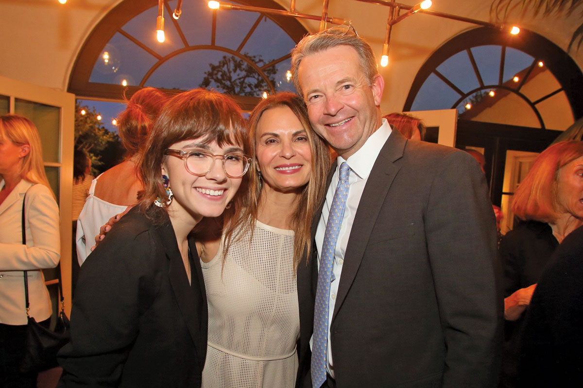 Left to right: Ava Cardoso-Smith, Trisha Cardoso and David L.Skaggs, MD, MMM, at a cocktail party hosted by council members