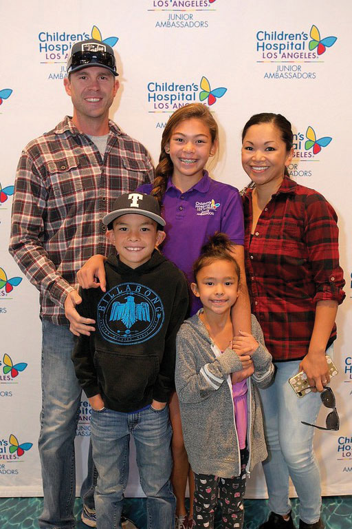 Left to right: Scott, Jacob, Tara, Lily and Sandee Rauenswinder