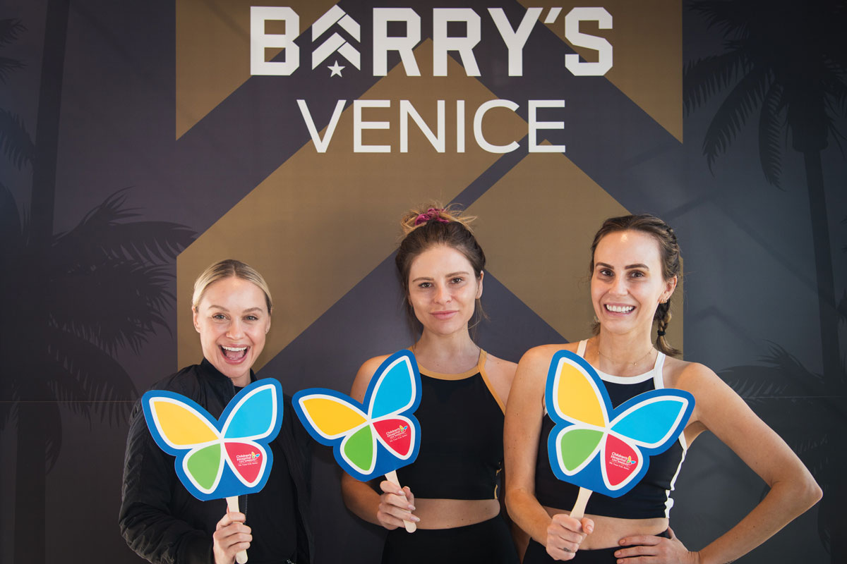 LadyGang members Becca Tobin, Jac Vanek and Keltie Knight participated in a fitness class at Barry's Bootcamp Venice to raise money for Make March Matter.