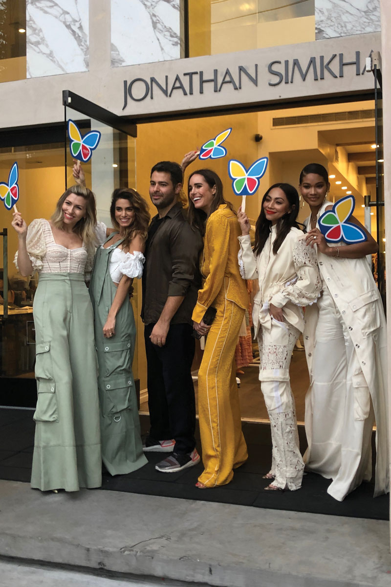 Fashion designer Jonathan Simkhai donated 15% of sales during a shopping event at his West Hollywood store to support Make March Matter.