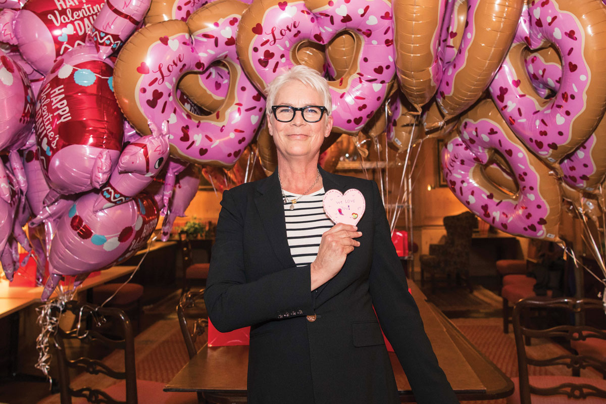 Actress and longtime CHLA supporter Jamie Lee Curtis helped celebrate Valentine's Day this year at CHLA.