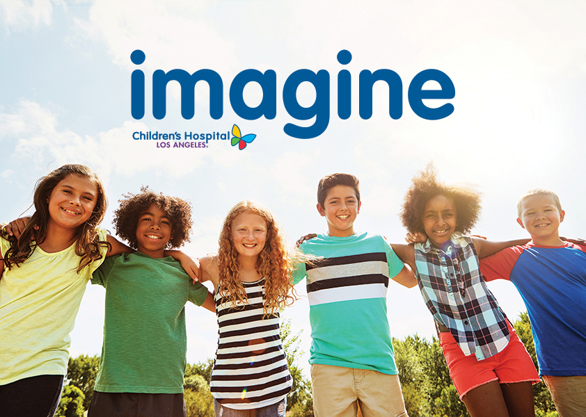 Multicultural group of children smiling outdoors - Cover image of Imagine Summer 2020 | Children's Hospital Los Angeles