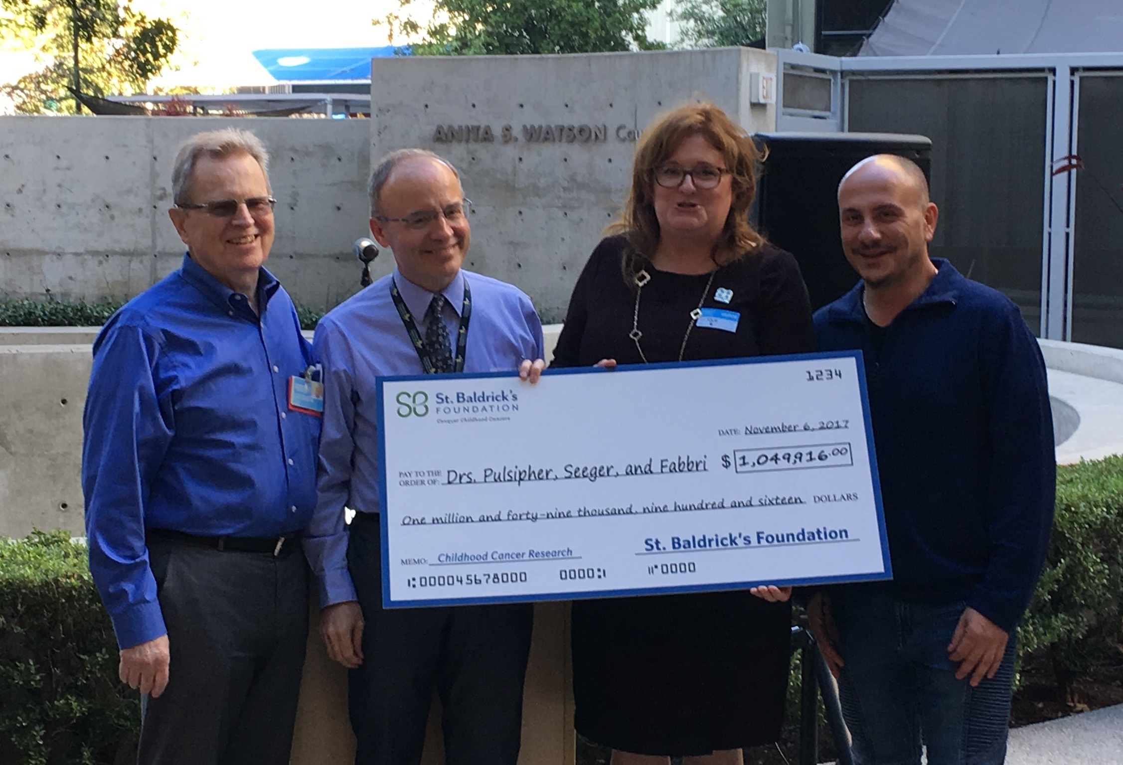 CHLA-St. Baldrick's Foundation check presentation at CHLA ..jpg