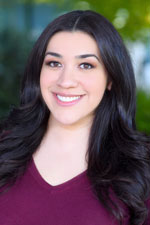Portrait of Stephanie Salcedo, international case coordinator in Children's Hospital Los Angeles Global Health Program