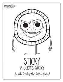 Sticky: A Germ's Story Coloring Sheet | Children's Hospital Los Angeles