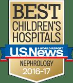 U.S. News Best Children's Hospitals - Nephrology 2016-2017