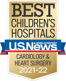 USNWR Badge - Best Children's Hospital - Cardiology and Heart Surgery