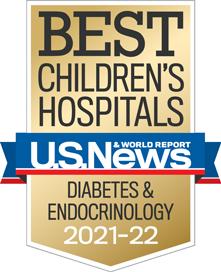 USNWR Badge - Best Children's Hospital - Diabetes and Endocrinology
