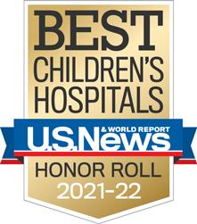 USNWR Badge - Best Children's Hospital - Honor Roll