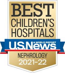 USNWR Badge - Best Children's Hospital - Nephrology