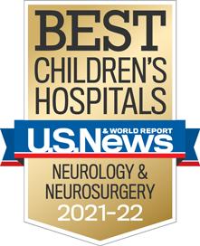 USNWR badge for Best Children's Hospital - Neurology and Neurosurgery