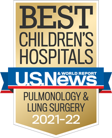USNWR Badge - Best Children's Hospital - Pulmonology and Lung Surgery