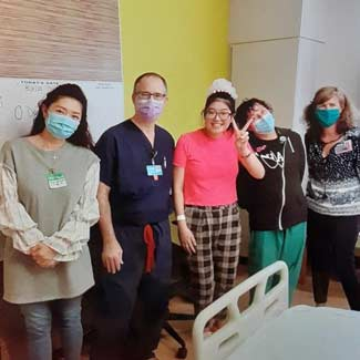 Charlize with Hospital Staff and Mom