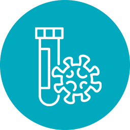 icon of test tube and molecule for COVID-19 Funding Opportunities